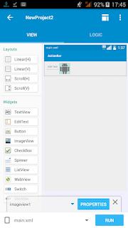 Memasukan edittext dan imageview ke sketchware