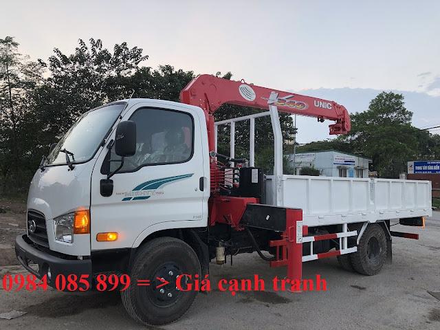 Xe tải 7 tấn Hyundai 110XL gắn cẩu