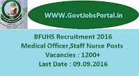 BFUHS Recruitment 2016 for 1200+ Medical Officer Staff Nurse Posts Apply Online Here