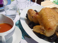 pollo asado con ciruelas