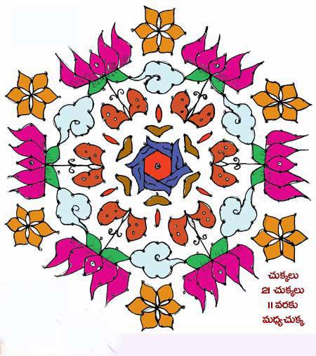 rangoli designs 2017 lohri