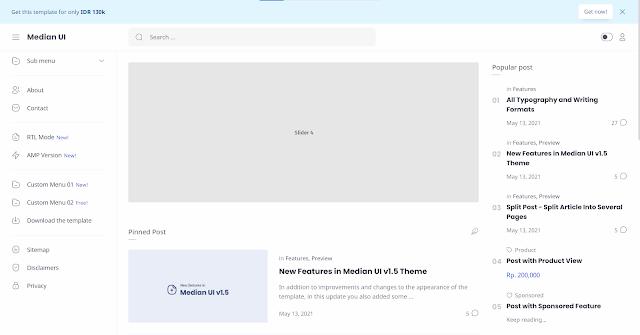 قالب بلوجر  Median UI  احترافي النسخة الجديدة مجاناً