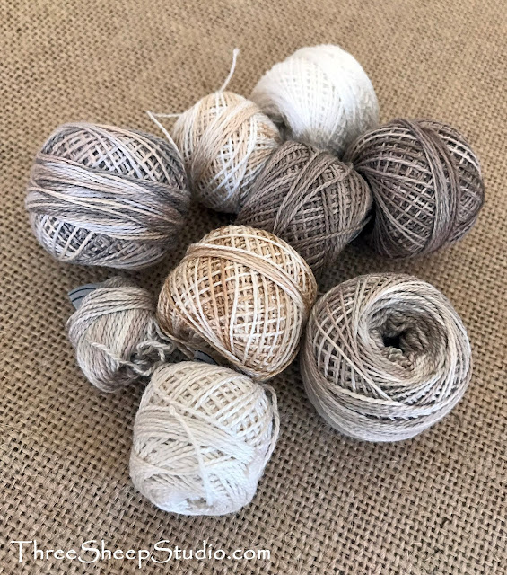 Creamy Calming Neutrals in Valdani Perle Cotton Thread