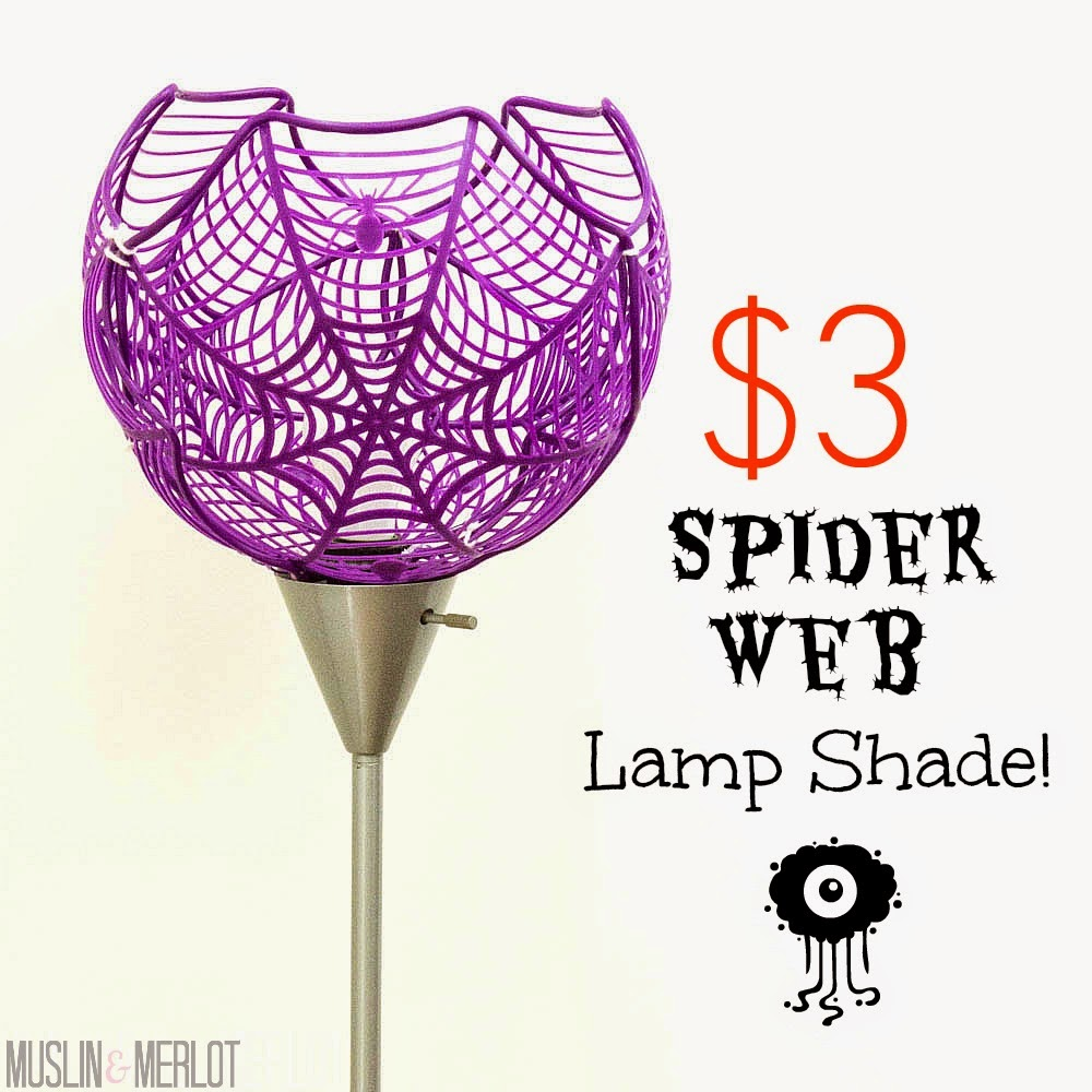 Spider Web Lamp Shade OR Super-Sized Bowl! - Muslin and Merlot