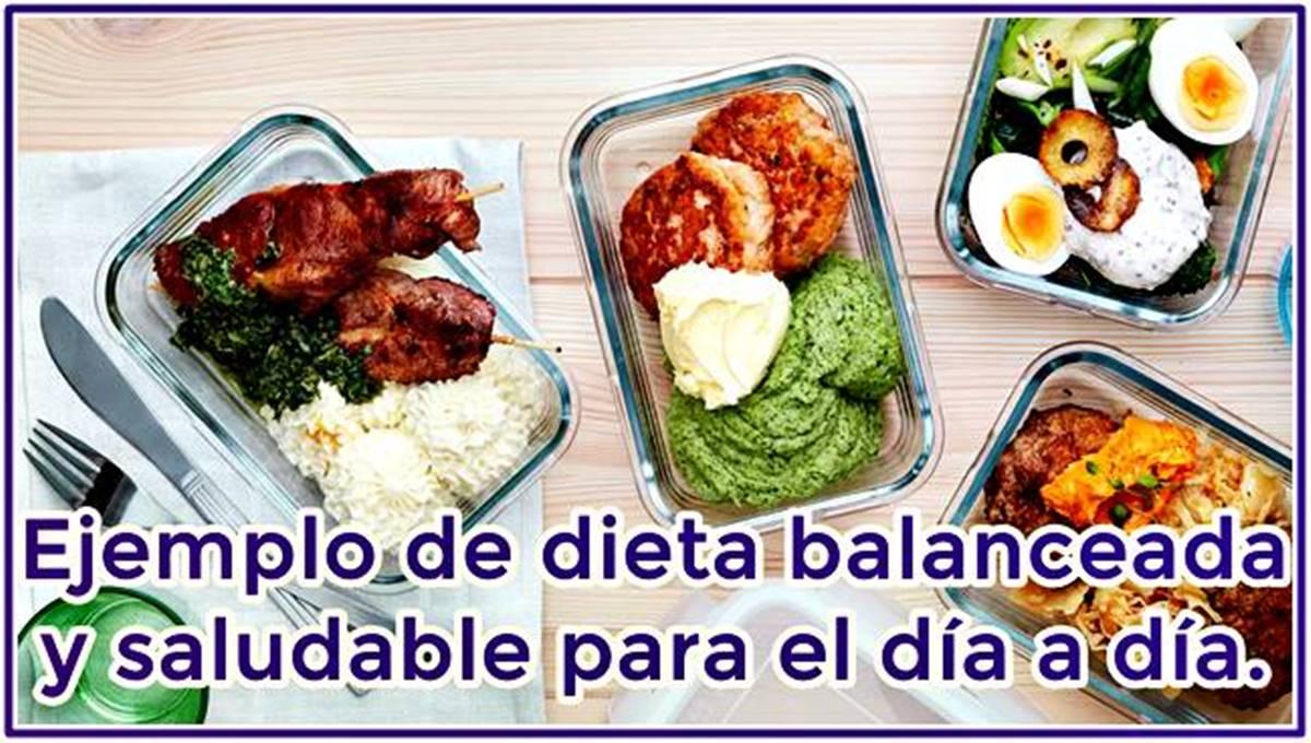 Una dieta balanceada y saludable muy completa y variada