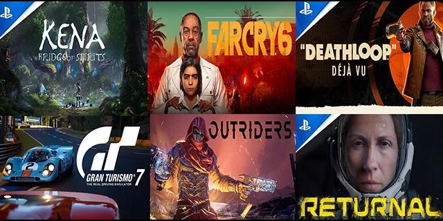 Jeux PlayStation 5 dont de sortie est prévue en 2021 et 2022.