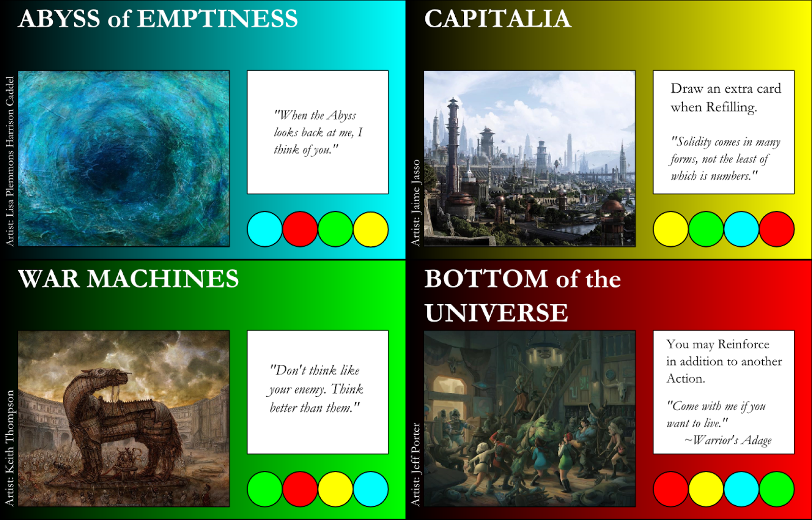 Abyss of Emptiness, Capitalia, War Machines, Bottom of the Universe