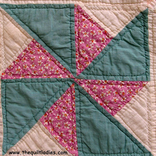 Great, Great Grandmother made My Mom a Pin Wheel Quilt