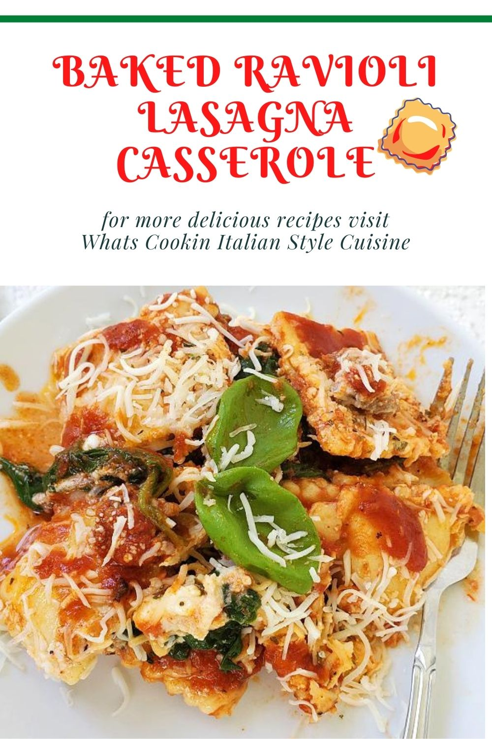 this is a pin for later for how to make ravioli casserole