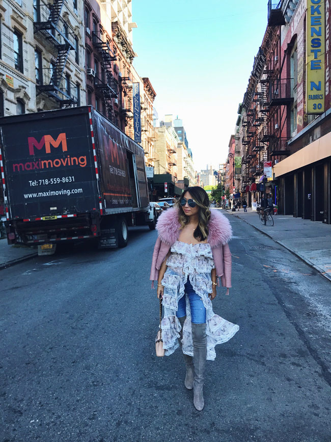 Lace Duster, How to style a duster for fall, NYFW Street Style, Chicago Style and Fashion Blogger in NY