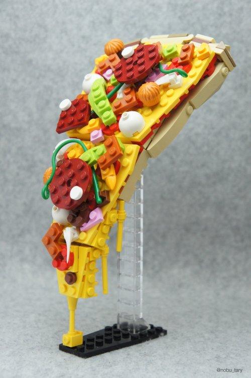 nobu_tary flickr esculturas de lego comidas pizza