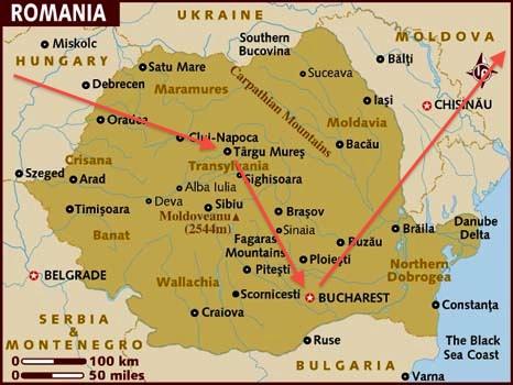 Romania Map Targu Mures