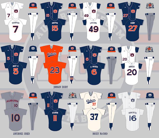auburn baseball 2015 uniforms