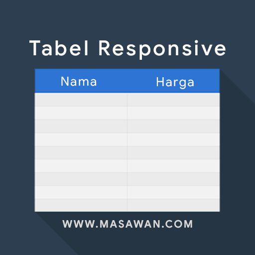 Cara Membuat Tabel Responsive di Blogspot