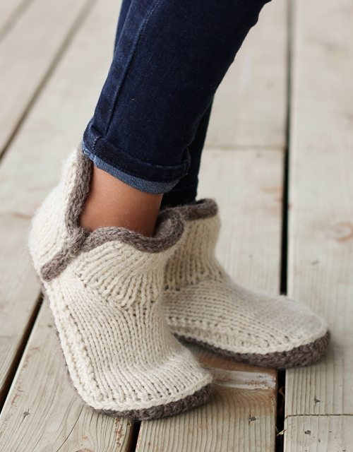 Mini Modern Mocs - Knitting Pattern