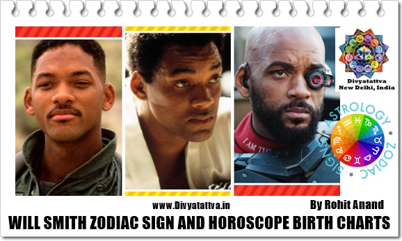 Will Smith Birthday Zodiac Sign, Horoscope Birth Charts in Vedic Astrology : Analysis by Celebrity Astrology Rohit Anand