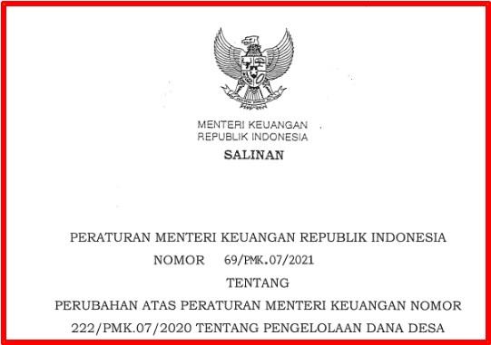 Permenkeu Nomor 69/PMK.07/2021