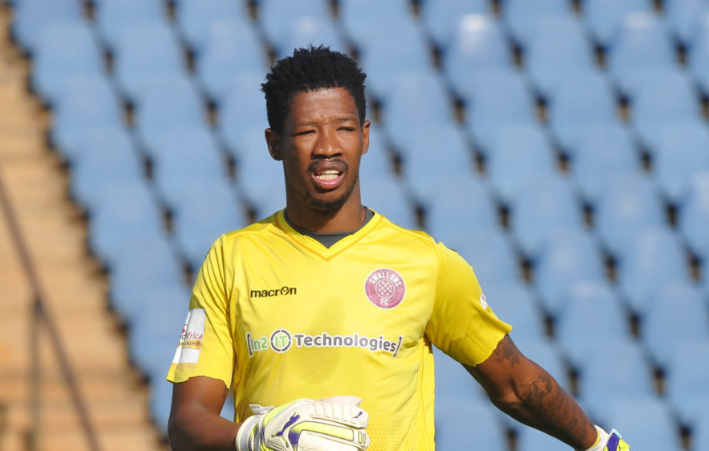 Swallows FC goalkeeper Virgil Vries