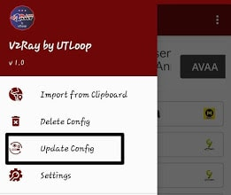 V2Ray by UTLoop Update Config