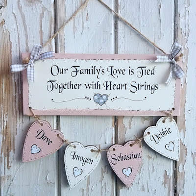 Handmade Wooden Family Tree Plaque