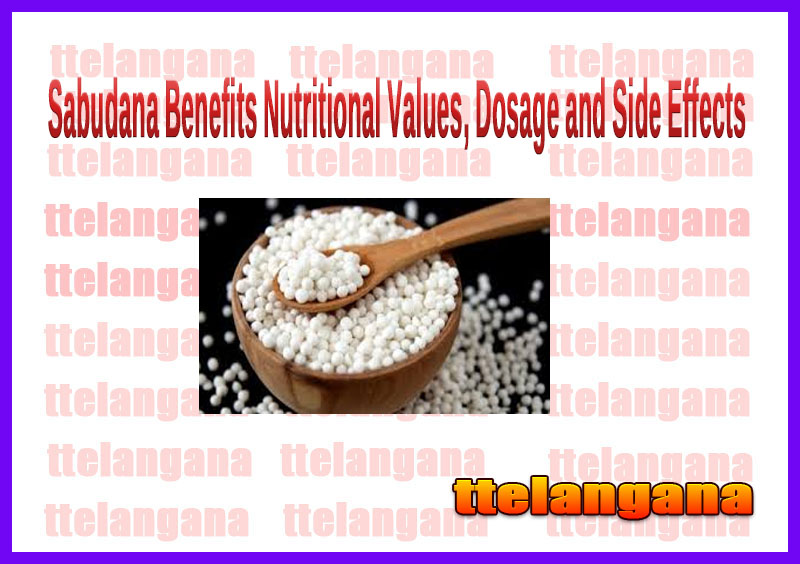 Sabudana Benefits Nutritional Values, Dosage and Side Effects