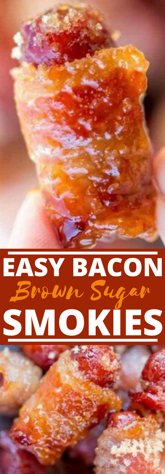 Bacon Brown Sugar Smokies #appetizers #fingerfood #sausage #party #recipes