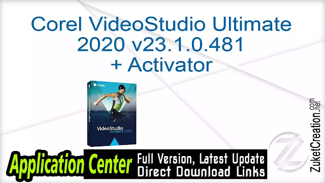 Corel VideoStudio Ultimate 2020 v23.1.0.481 + Activator