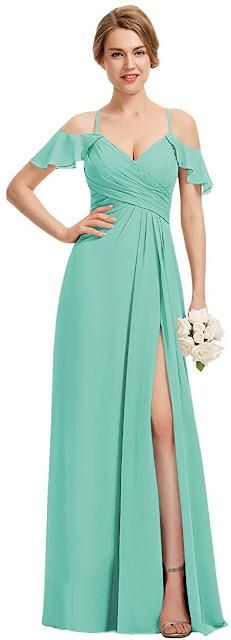 Good Quality Turquoise Chiffon Bridesmaid Dresses