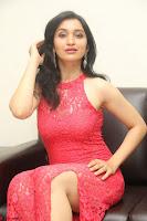 Sakshi Kakkar in Red Legsplit Sleeveless Gown at Dare movie Press meet ~  Exclusive 085.JPG