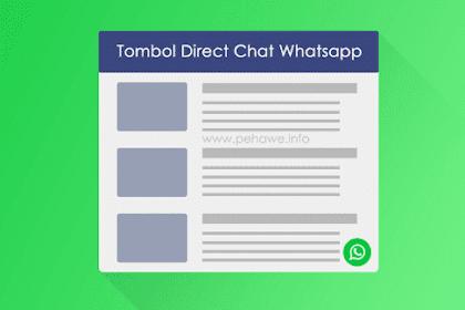 Cara Membuat Tombol Direct Chat Whatsapp Di Blog Dengan SVG