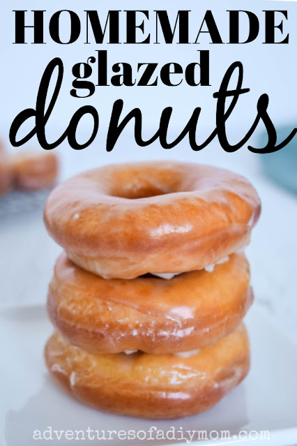 a stack of homemade donuts