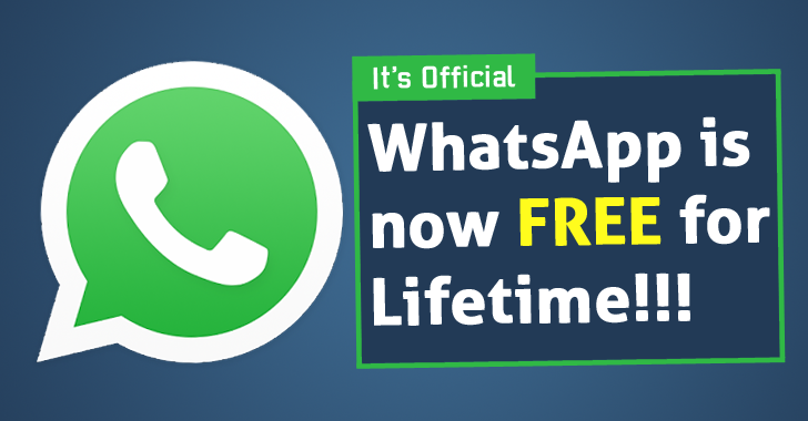 WhatsApp is Now Free For Lifetime