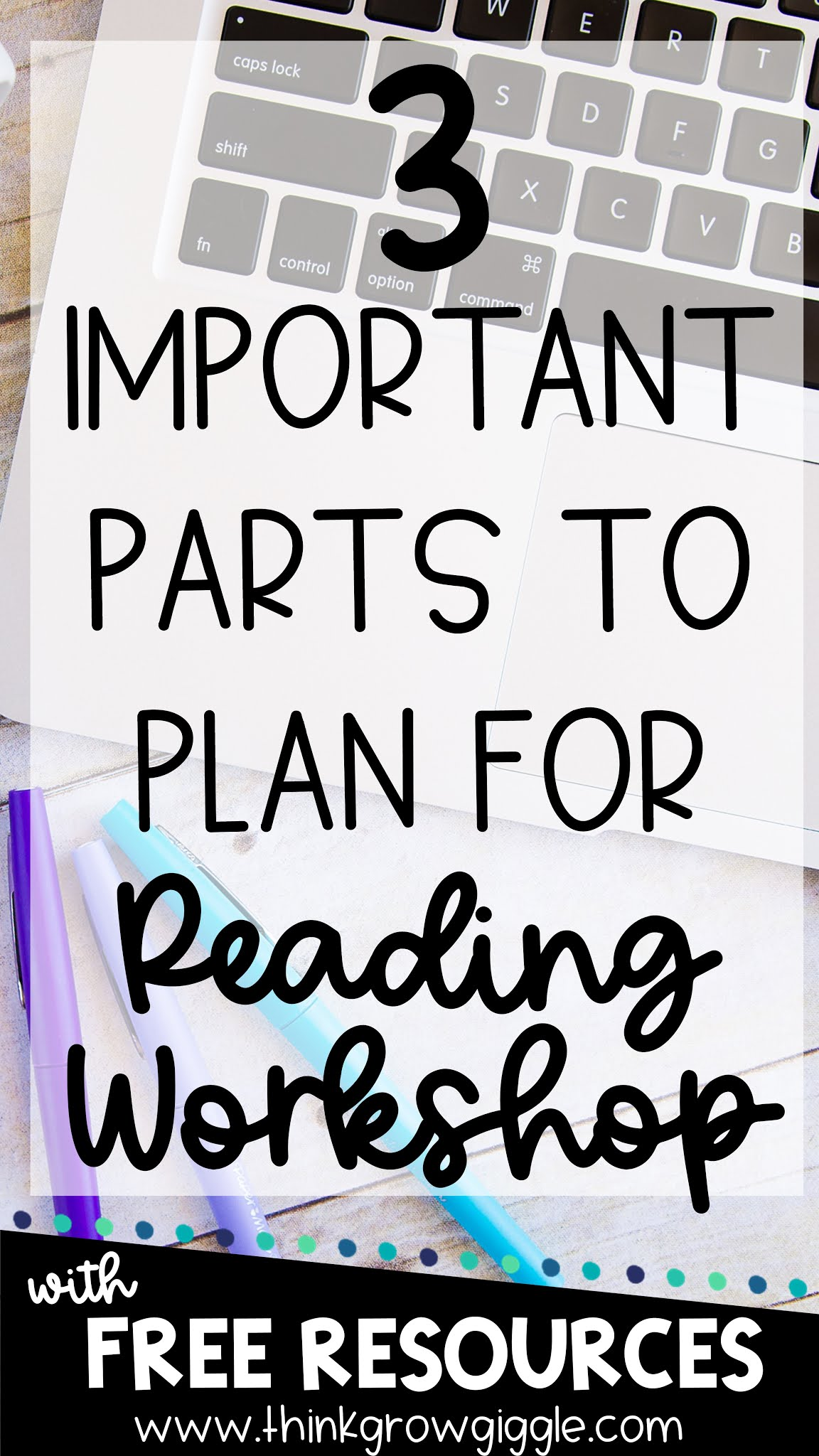 3 Important Parts to Plan for Reading Workshop