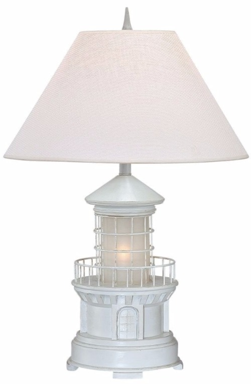 White Lighthouse Table Lamp