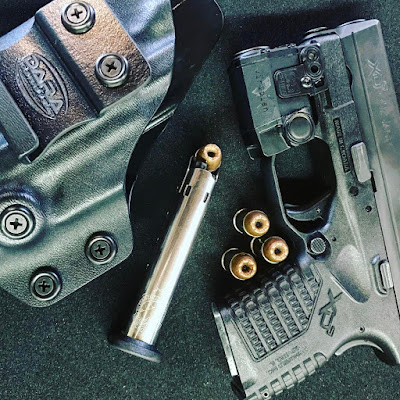 Springfield XDS with Viridian C5L and ECR Holster, ecr holsters, ecr capable holster, c5l holster, xds holster, xds with c5l holster