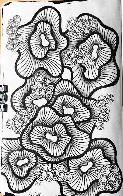 day 16 of The 100 Day Project, Alice Hendon, Leda Pocket Sketchbook