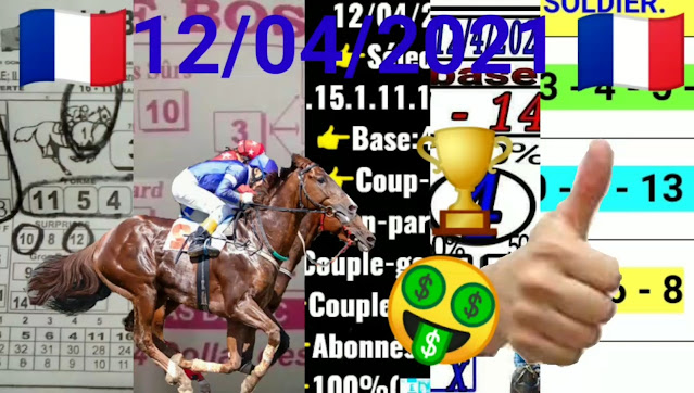 Pronostic quinté pmu du lundi Paris-Turf TV - 100 % 12/04/2021