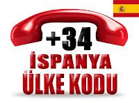 +34 İspanya ülke telefon kodu