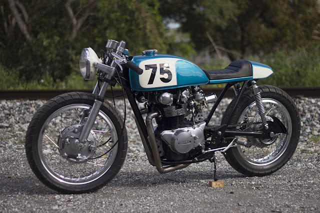 Honda CB500T 1975 By The Corner Garage Hell Kustom