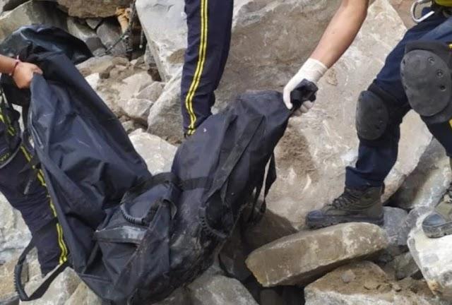 दर्दनाक हादसा, चट्टान के टूटने से तीन लोगों की मौत ! तस्वीरें देखें ।
