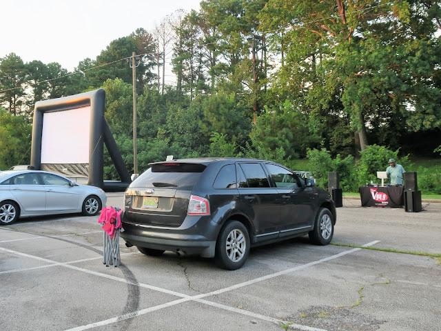 Drive-in movie at George Ward Park, Birmingham, Alabama. August 2020.
