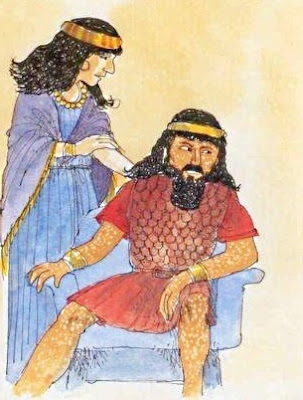 Naaman si consulta con la moglie
