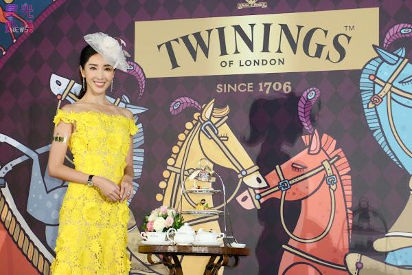 隋棠以一襲歐風洋裝搭配經典英式禮帽盛裝TWININGS唐寧茶皇室榮耀午茶盛宴,優雅呈現英國現代淑女的高貴與氣質