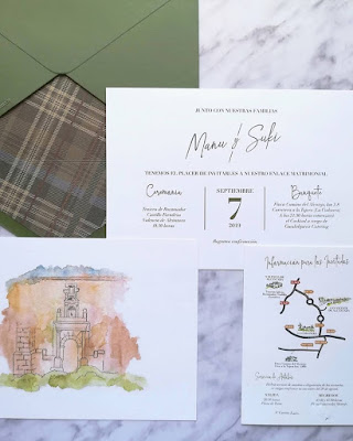 Mapa invitación boda