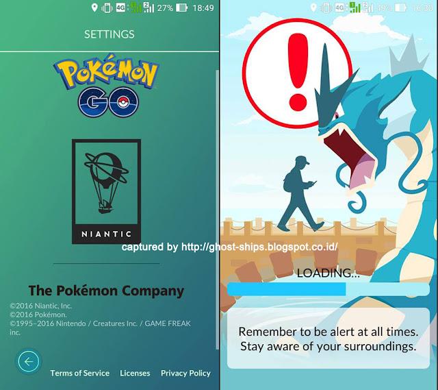 Setelah Pokemon Go terinstall di smart phone