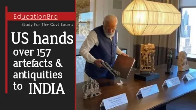 us-hands-over-157-artefacts-antiquities-to-india-daily-current-affairs-dose