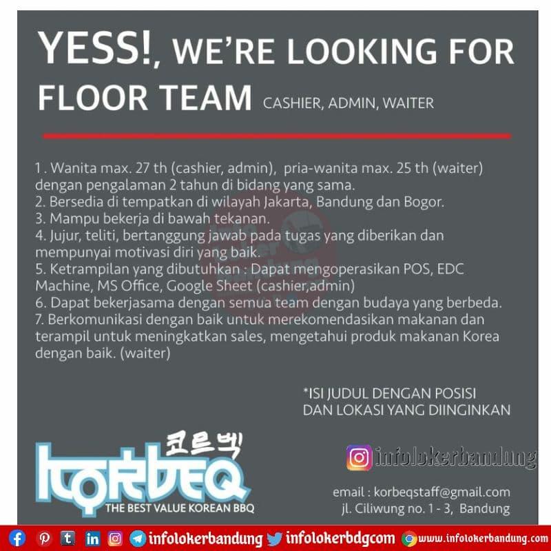 Lowongan Kerja Korbeq Indonesia Bandung Mei 2021