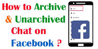 How to Archive and Unachieved chat on Facebook?