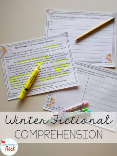 Winter fiction reading plus a few FREEBIES- blog post highlighting hands-on activities for kids