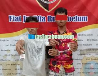 OPS Antik Toba 2021, Polsek Kampung Rakyat Berhasil Amankan Dua Tersangka Narkotika